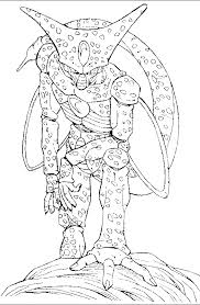 dragon ball monster cell coloring pages dragon ball coloring