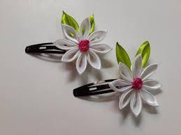 kanzashi hair pin diy tutorial diy kanzashi diy kanzashi flower hair from
