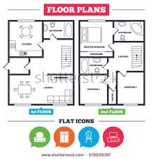 architectural symbols for floor plans architecture plan furniture house floor plan stock vector hd