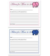 advice to the cards elephant theme free baby shower advice for card