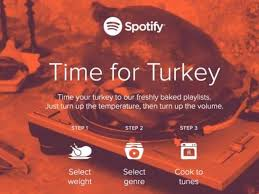 spotify curates based on thanksgiving turkey size devour