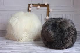 furniture u0026 rug sheepskin beanbag furry bean bags buy bean