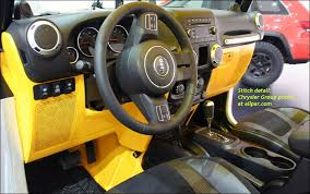 jeep wrangler custom dashboard jeep wrangler stitch 2013 moab concept