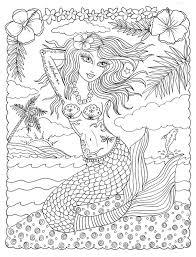 la la pinup tattooed mermaids coloring book fun cute