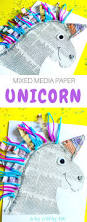 mixed media paper unicorn craft arty crafty kids