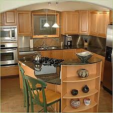 small kitchens with islands like curved island stove and microwave column did they provide