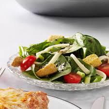 easy italian spinach salad recipe taste of home