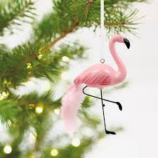 pink flamingo premium hallmark ornament specialty ornaments