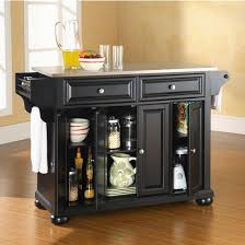 stainless steel top kitchen cart crosley furniture alexandria stainless steel top kitchen cart or