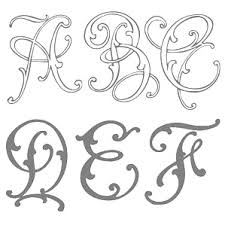 Initial Monogram Fonts Font Magazines