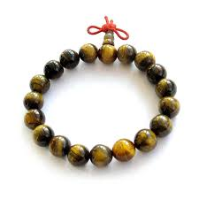 rosary bead bracelet tiger eye buddhist prayer meditation wrist mala