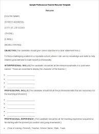 Character Resume Template 51 Teacher Resume Templates U2013 Free Sample Example Format