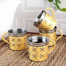tea cup set kaushalam tea cups set of 4 kaushalam creations