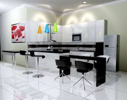traditional white kitchen design black wall mounted cabinet