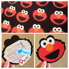 Homemade Birthday Invitation Cards Homemade Diy Elmo Birthday Invitations Silhouette Cameo I Have All