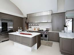 grey kitchen cabinets what colour walls stainless steel faucet and