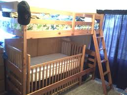 Loft Bed With Crib Underneath Loft Beds Loft Bed With Crib Underneath Image Of Low Bunk Beds