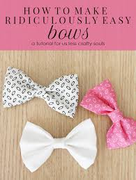 how to make hair bows how to make ridiculously easy bows unfluffed