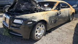 wraith roll royce fire damaged rolls royce wraith selling for u20ac40 000 bargain or