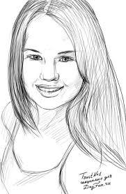 how to draw a portrait of debby ryan step by step arcmel com
