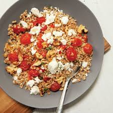 farro with honey garlic roasted tomatoes recipe