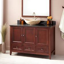 cherry bathroom vanity signature hardware