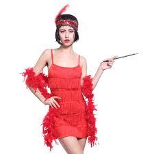 Flapper Dress Halloween Costume Charleston Flapper Fringe Fancy Dress Sequin Tassel Party Costume