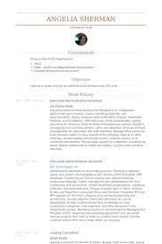 Resume Samples For Executive Assistant by Executive Administrative Assistant Resume Samples Visualcv