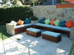 Storage Bench Outdoor Outdoor Storage Bench With Cushion Foter