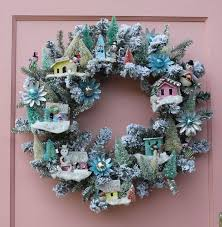 16 best wreaths images on putz houses tiny houses and