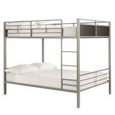 Bunk Beds Black Jakob Contemporary Grey And Black Metal Bunk Bed By Inspire Q