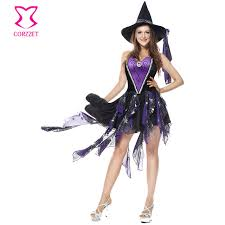 Victorian Halloween Costume Aliexpress Buy Deluxe Purple Black Corset Skirt Gothic Dress