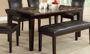 Marble Dining Room Sets Homelegance Thurston Faux Marble Dining Table Espresso 2545 68
