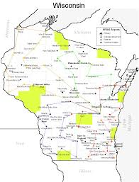 Wisconsin County Maps by Flying Wisconsin Sixty Airports Sixty Counties Four Flights