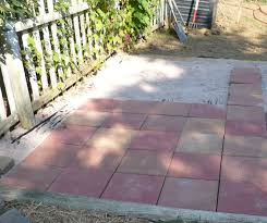 24x24 Patio Pavers by How To Make A Stone Patio With Concrete Home Outdoor Decoration