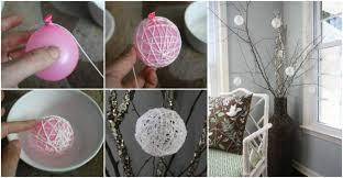 creative ideas diy glittery snowball ornaments