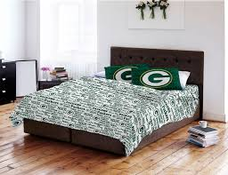 Bed Sheet Sets Amazon Com Nfl Green Bay Packers Full Sheet Set Football Anthem