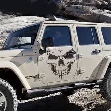 jeep decal 50 57cm black white skull head decal machine cover hood sticker