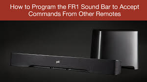surroundbar 5000 instant home theater how to program the fr1 sound bar to accept commands from other