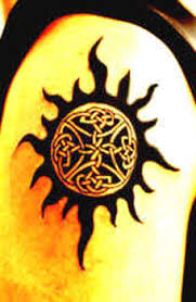 tribal sun tattoo design ideas and pictures tattdiz