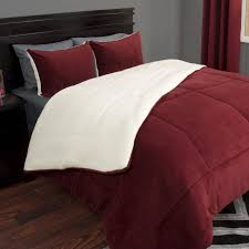 Comforters From Walmart Somerset Home Sherpa Fleece Bedding Comforter Set Walmart Com