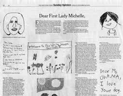 the new york times publishes the new york times publishes students letters to the first lady
