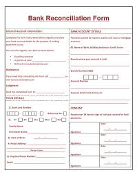 Sample Resume Banking by Printable Bank Reconciliation Form Http Resumesdesign Com