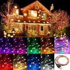 2m 20 led usb copper wire led string fairy light for christmas