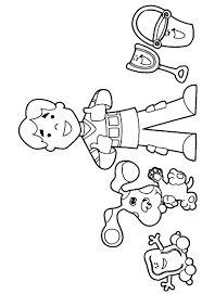 blues clues coloring pages with joe coloringstar