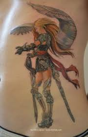 awesome angel warrior tattoo u003c3 angel tattoos pinterest
