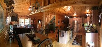 interior log home open floor plan hidden valley log homes