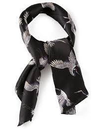 les hommes crane print scarf in black for men lyst