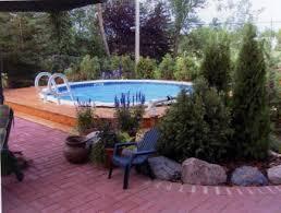 Above Ground Pool Landscaping Ideas Garden Design Garden Design With Scenery Images Above Ground