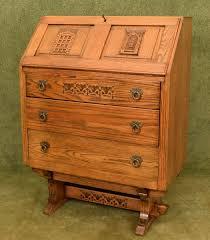 oak writing bureau furniture carved oak writing bureau betel restored furniture